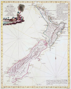 Map Of New Zealand 1778 art print