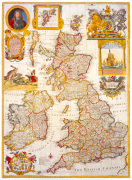 Map of Great Britain and Ireland c1730 art print