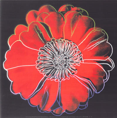 Flower for Tacoma Dome, c. 1982 (black & red)
