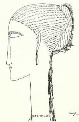 Female Head with Earring