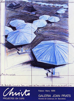 Umbrellas Blue III Joan Prats (1986)