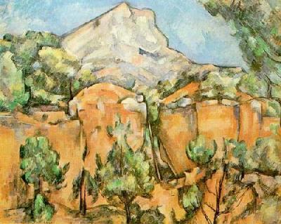 Mont Ste. Victoire by Paul Cezanne Art Print