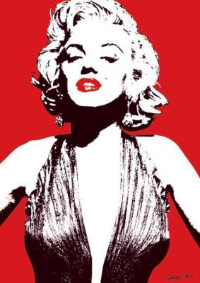Celebrity   Paintings  Sale on Marilyn Monroe  Red  By Celebrity Image Art Print   Worldgallery Co Uk