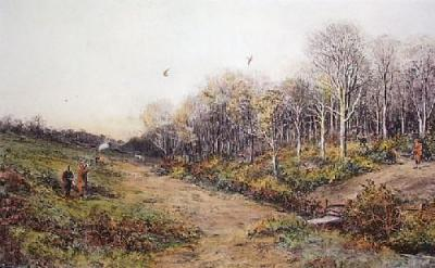 Pheasant Shooting (Restrike Etching)