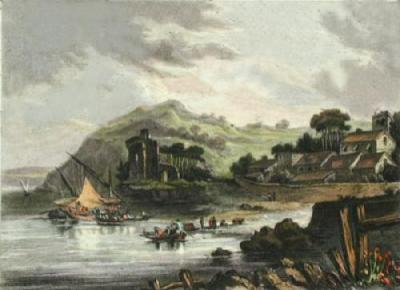 Punhete Castle on the Tagus (Restrike Etching)