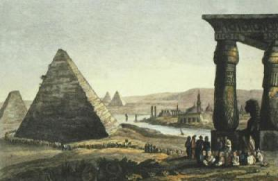 Pyramids of Egypt (Restrike Etching)