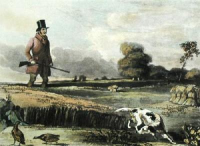 Partridge Shooting (Restrike Etching)