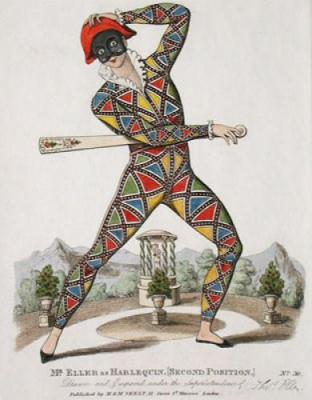 Mr Eller As Harlequin (Restrike Etching)