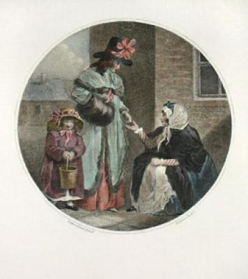 Believing a beggar (Restrike Etching)