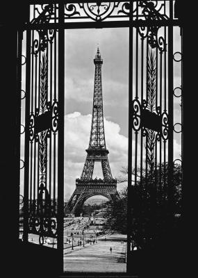 Eiffel Tower Through Gates, 1909