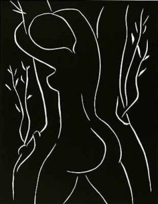 Pasiphae Embracing an Olive Tree (Silkscreen print)