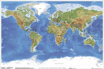 Planetary Visions - Physical map of the world