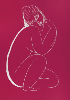 Seated Nude (Silkscreen print)