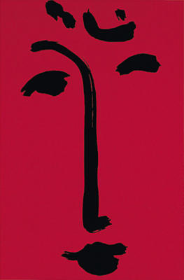 Facial-Maschera (red), 1951 (Silkscreen print)