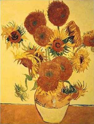 Sunflowers on Gold