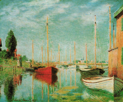 sailing boats at argenteuil print by claude monet. Black Bedroom Furniture Sets. Home Design Ideas