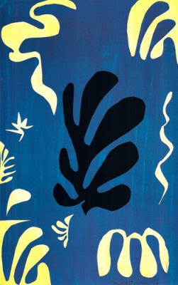 Composition fond bleu, 1951