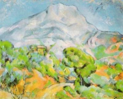 La montagne Sainte-Victoire by Paul Cezanne Art Print