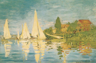 regatta at argenteuil print by claude monet. Black Bedroom Furniture Sets. Home Design Ideas